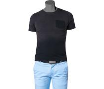 Herren T-Shirt Baumwolle grau-schwarz verlaufend