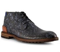 Schuhe Stiefeletten Kalbleder schwarz-