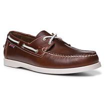 Herren Bootsschuhe, Leder, braun