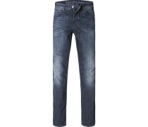 Herren Jeans Slim Fit Baumwoll-Stretch nachtblau