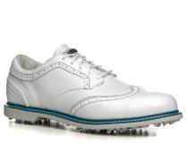 Herren Golfschuhe Leder weiß