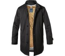 Mantel Baumwolle wasserabweisend schwarz