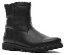 Herren Schuhe Stiefel Kalbleder warm gefüttert schwarz