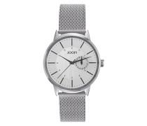 Herren Uhren Armbanduhr Edelstahl silber