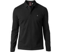 Herren Polo-Shirt, Baumwoll-Piqué, schwarz