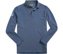 Herren Polo-Shirt, Baumwoll-Piqué, hellblau