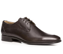 Herren Schuhe Derby Kalbleder testa di moro