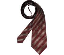 Herren Krawatte  beige,rot,schwarz