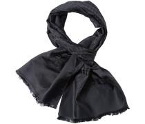 Herren  Schal Seide schwarz gemustert