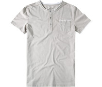 Herren T-Shirt Baumwoll-Mix beige