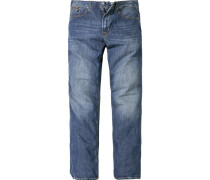 Herren Jeans 5-Pocket Baumwolle blau