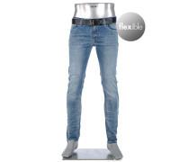 Jeans Slim Slim Fit Baumwoll-Stretch T400 12oz