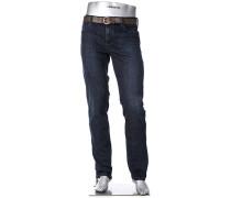 Herren Cosy Jeans Pipe, Regular Slim Fit, Baumwoll-Stretch, dunkelblau