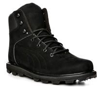 Herren Schuhe Stiefel, Nubukleder, schwarz