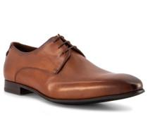 Schuhe Derby Leder cognac