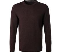 Pullover Wolle-Kaschmir bordeaux meliert
