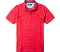 Herren Polo-Shirt Baumwoll-Piqué rot