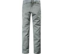 Herren Jeans Modern Fit Baumwoll-Stretch khaki