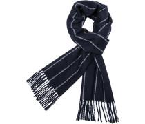 Herren Schal, Wolle, navy gestreift blau
