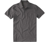 Herren Polo-Shirt Baumwoll-Piqué dunkelgrau