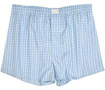 Herren Unterwäsche Boxer-Shorts Popeline bleu-weiß kariert