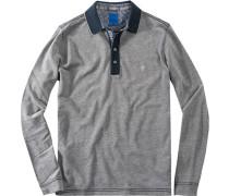 Herren Polo-Shirt Regular Fit Baumwoll-Jersey dunkelblau