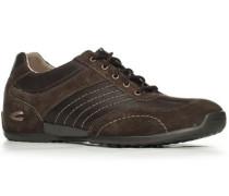 Herren Schuhe Sneaker, Velours-Glattleder, dunkelbraun