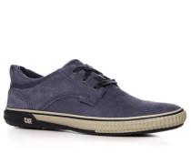 Herren Schuhe Sneaker, Veloursleder, blau