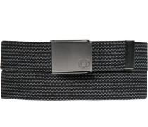 Herren Gürtel grau gestreift Breite ca. 3,5 cm