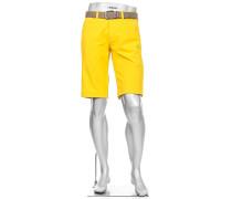 Herren Hose Bermudashorts Master, Modern Fit, 3xDry Cooler, gelb