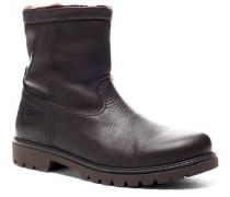 Herren Schuhe Stiefel Kalbleder warm gefüttert braun