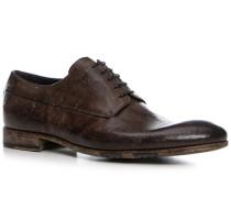 Schuhe Derby Kalbleder glatt testa di moro