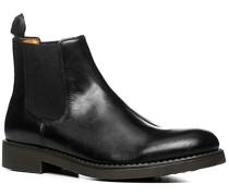 Herren Schuhe Chelsea Boots Glattleder schwarz schwarz,beige