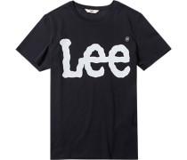 Herren T-Shirt Baumwolle schwarz