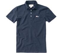 Herren Polo-Shirt Baumwoll-Piqué navy blau