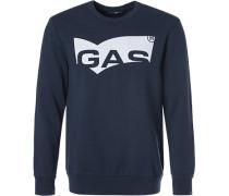 Sweatshirt Regular Fit Baumwolle navy