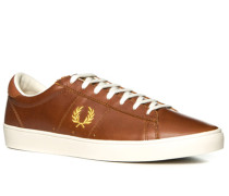 Herren Schuhe Sneaker, Leder, braun