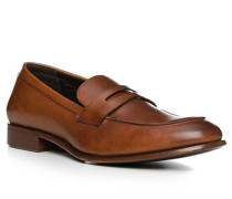 Schuhe Pennyloafer Kalbleder cognac