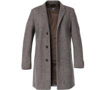Herren Mantel Wolle braun meliert