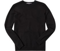 Herren Pullover Schurwolle schwarz
