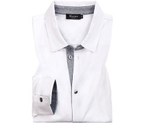 Herren Hemd, Jersey, weiß
