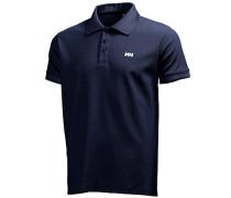 Herren Polo-Shirt Microfaser-Piqué navy blau