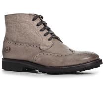 Herren Schuhe Schnürstiefeletten, Leder-Filz, sand beige