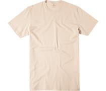 Herren T-Shirt Pima-Baumwolle sand