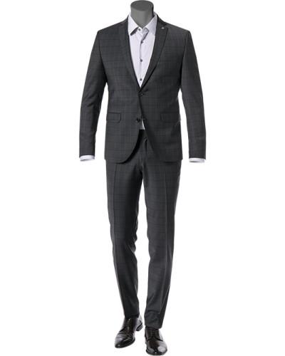 Anzug, Slim Fit, Wolle,  kariert