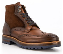 Schuhe Stiefeletten mit Reißverschluss, Leder warmgefüttert