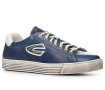 Herren Schuhe Sneaker, Rindleder, blau