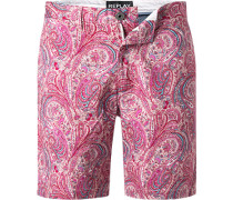 Hose Shorts, Baumwolle, -rosa gemustert