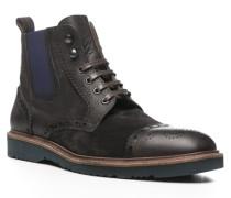 Herren Schuhe BRIX Leder-Mix dunkel