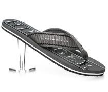 Herren Schuhe Zehensandalen Textil grau